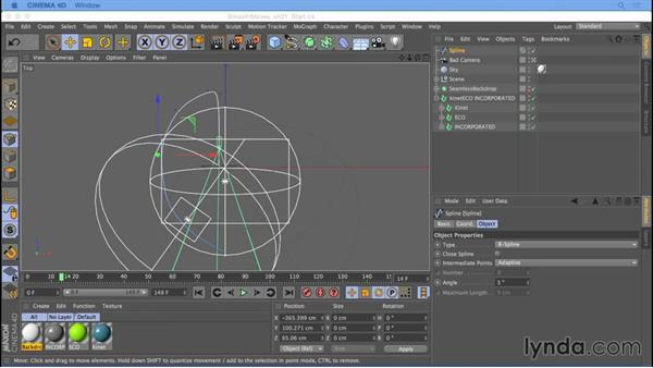 Smoother camera moves with the Align to Spline tag: Camera Animation with CINEMA 4D
