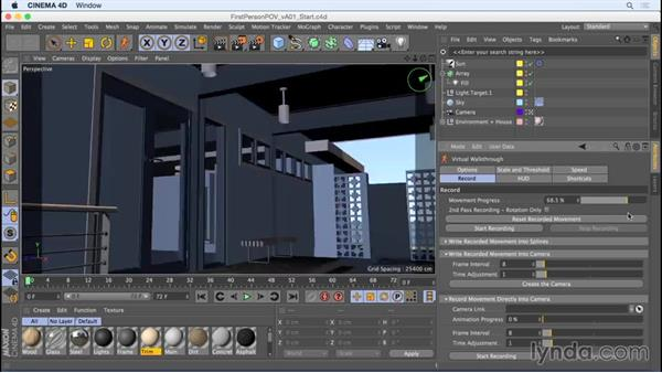 First-person POV with the Virtual Walkthrough tool: Camera Animation with CINEMA 4D