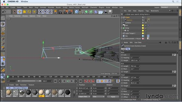 Sweeping shots with the Camera Crane: Camera Animation with CINEMA 4D