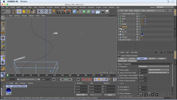 Tracking shots with the Motion Camera tag Spline setting: Camera Animation with CINEMA 4D