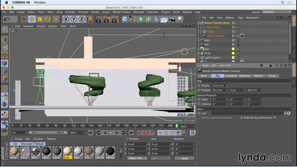 Creating a steadicam effect with the Motion Camera rig: Camera Animation with CINEMA 4D