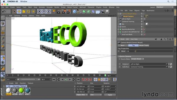 A-to-B camera moves with the Camera Morph tag: Camera Animation with CINEMA 4D