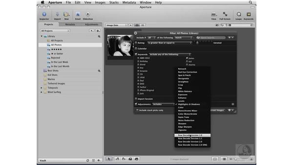 Using the Filter HUD: Aperture 2 Essential Training