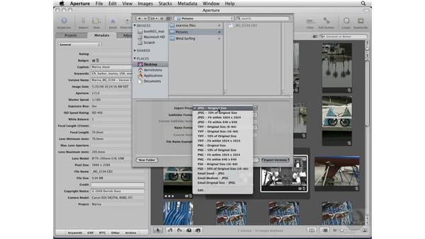 Exporting masters and versions: Aperture 2 Essential Training