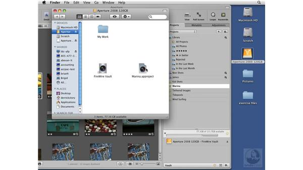 Backing up a project: Aperture 2 Essential Training
