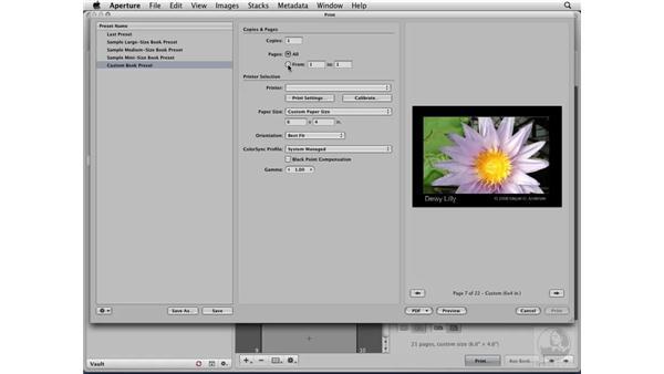 Generating PDFs: Aperture 2 Essential Training