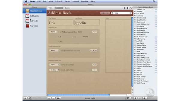 Updating Address Book and iCal from Bento: Bento Essential Training