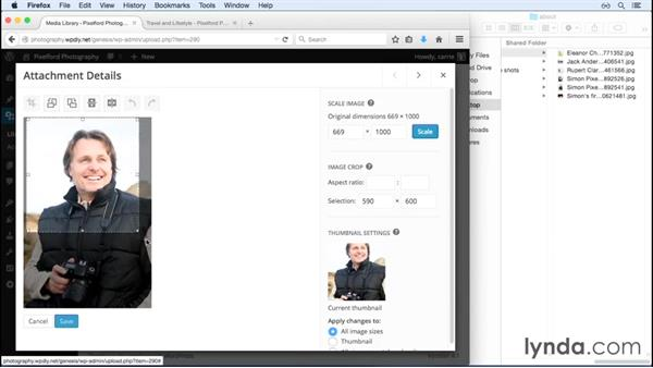 Using WordPress image and image gallery functions: WordPress and Genesis DIY: Showcasing Photography