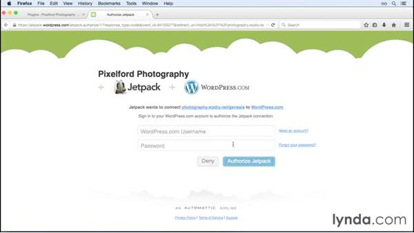 Adding Jetpack to your site: WordPress and Genesis DIY: Showcasing Photography