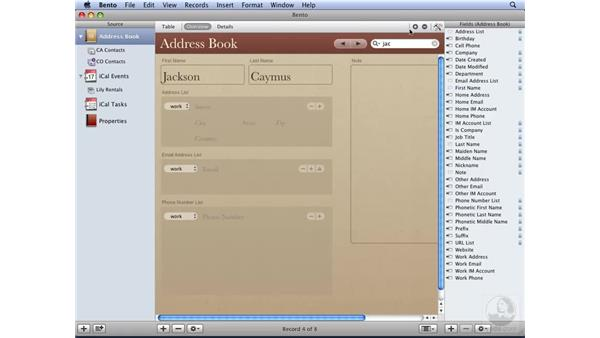 Editing records in Table or Form view: Bento Essential Training