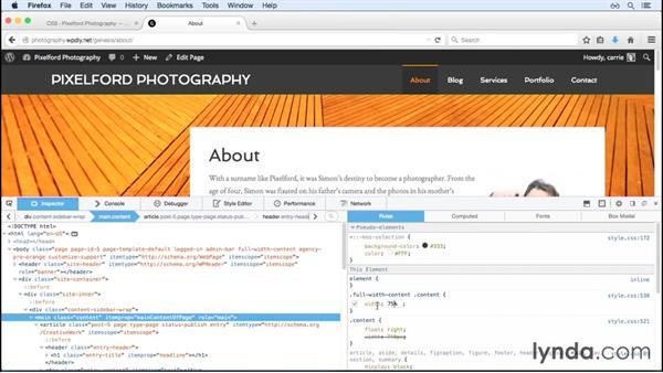 Adding custom styles: WordPress and Genesis DIY: Showcasing Photography
