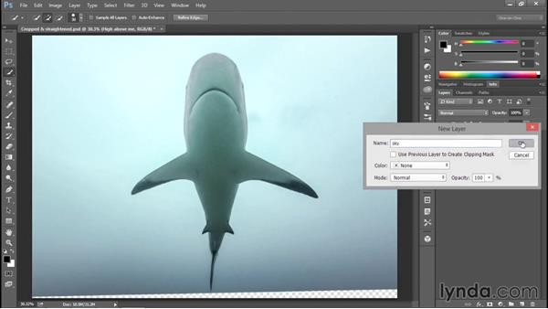 Rebuilding missing details with Content-Aware: Enhancing Underwater Photos with Photoshop