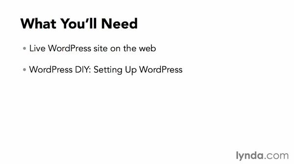 What you'll need to follow along in this course: WordPress DIY: Showcasing Photography