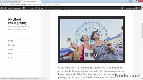 Enabling Jetpack image features: WordPress DIY: Showcasing Photography