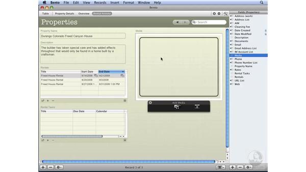 Adding movie or sound files: Bento Essential Training