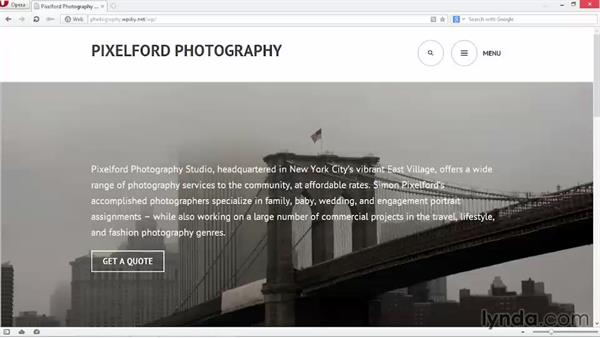 Testing the site before going live: WordPress DIY: Showcasing Photography