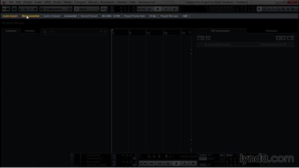 Exploring the user interface: Up and Running with Cubase Pro 8