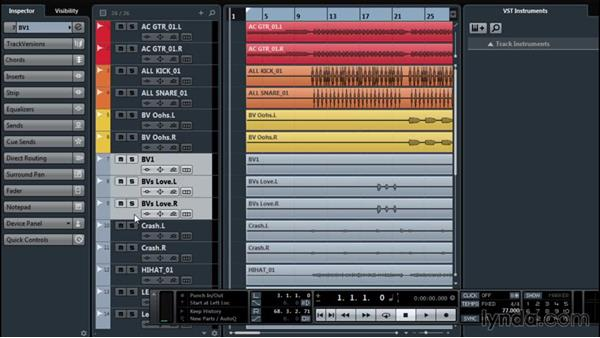 Using the Project window to organize assets: Up and Running with Cubase Pro 8