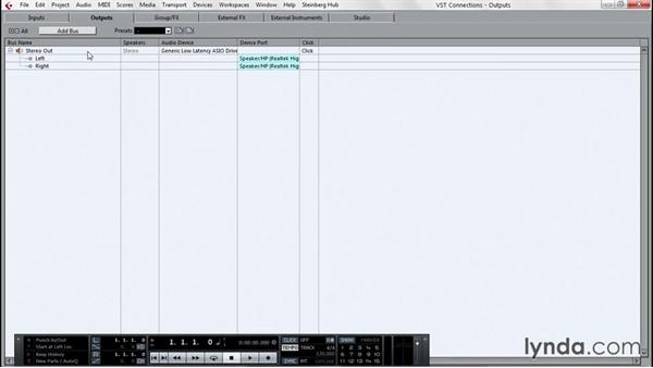 Starting with a project template: Up and Running with Cubase Pro 8