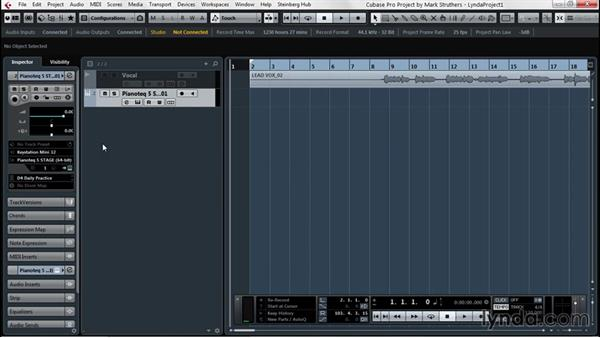Recording MIDI to build the project: Up and Running with Cubase Pro 8