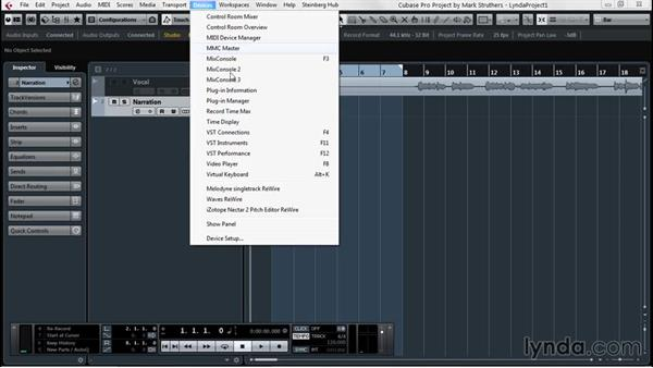 Recording audio: Up and Running with Cubase Pro 8