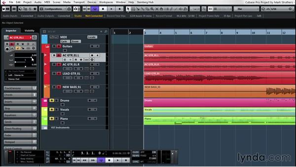 Preparing a mix: Up and Running with Cubase Pro 8