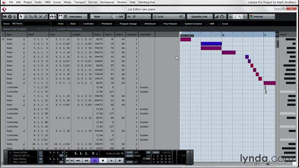 Adjusting MIDI to aid VSTi performances: Up and Running with Cubase Pro 8