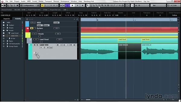 Stripping out dead air with the Detect Silence function: Up and Running with Cubase Pro 8