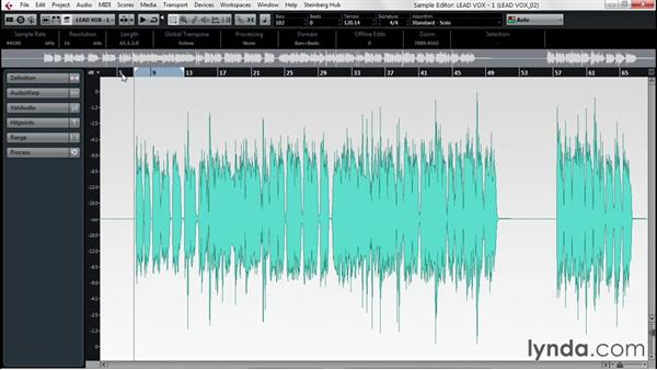 Forensic audio editing with the Sample Editor: Up and Running with Cubase Pro 8