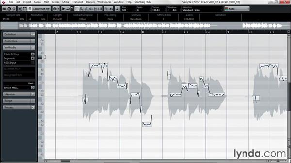 Improving tuning issues with VariAudio: Up and Running with Cubase Pro 8