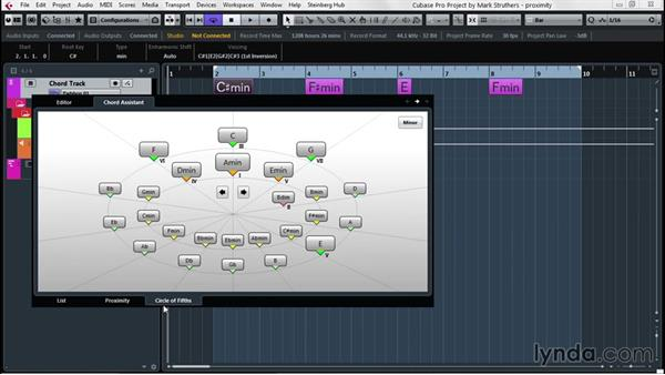 Integrate Chord Track and Chord Pads to aid in composition: Up and Running with Cubase Pro 8