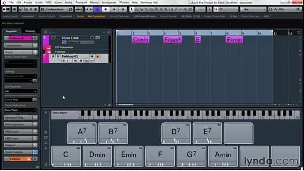 Develop song ideas with Chord Pads: Up and Running with Cubase Pro 8