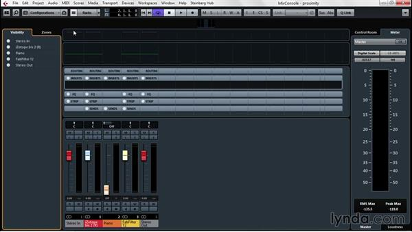 Configuring the Mix Console to produce finished projects: Up and Running with Cubase Pro 8