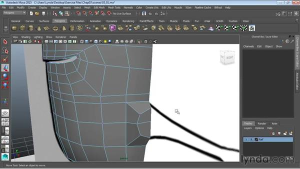 Extruding arms: Modeling a Cartoon Character in Maya