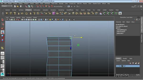 Creating the foot: Modeling a Cartoon Character in Maya