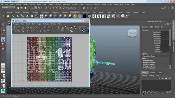 Finalizing mapping: Modeling a Cartoon Character in Maya