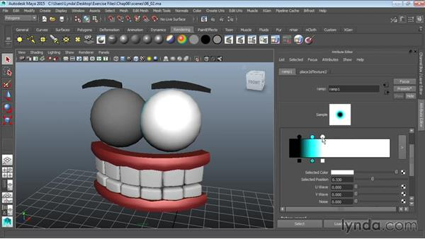 Texturing eyes: Modeling a Cartoon Character in Maya