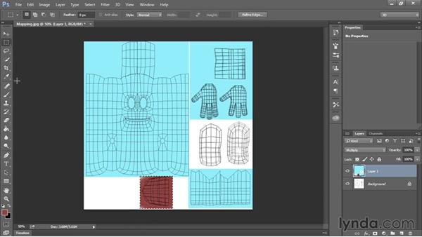 Creating textures in Photoshop: Modeling a Cartoon Character in Maya