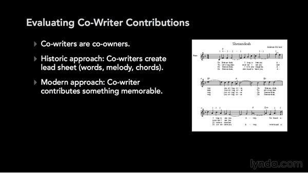 Who is a co-writer?: Music Law: Copyrighting a Song