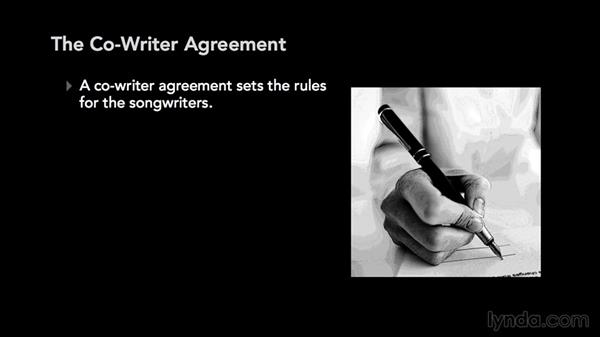 The co-writer agreement: Music Law: Copyrighting a Song
