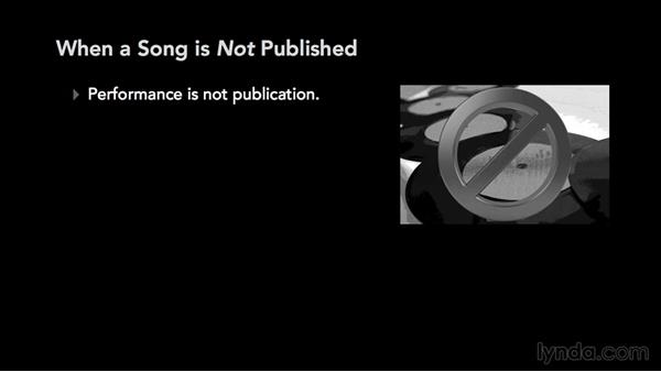 When is a song published?: Music Law: Copyrighting a Song