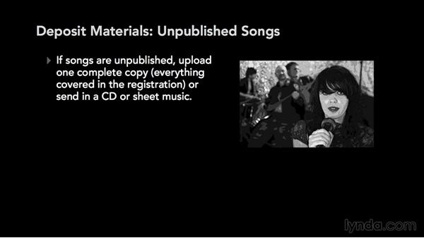 Deposit materials: Music Law: Copyrighting a Song