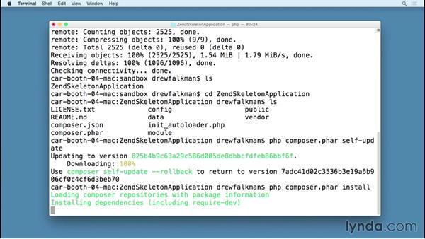 Zend setup, ZFTool, and the ZendSkeletonApp: MVC Frameworks for Building PHP Web Applications