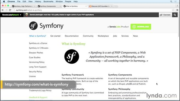 Symfony components: MVC Frameworks for Building PHP Web Applications (2015)