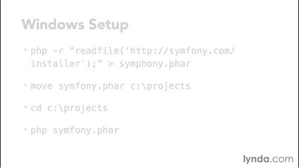Symfony setup: MVC Frameworks for Building PHP Web Applications