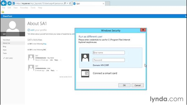 Using the My Site host: SharePoint 2013 Site and Collection Templates