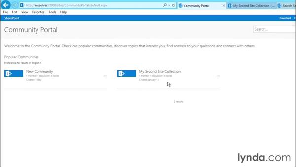 Exploring the features of the Community Portal site: SharePoint 2013 Site and Collection Templates