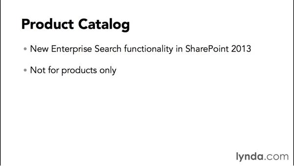 Exploring the features of the Product Catalog site: SharePoint 2013 Site and Collection Templates