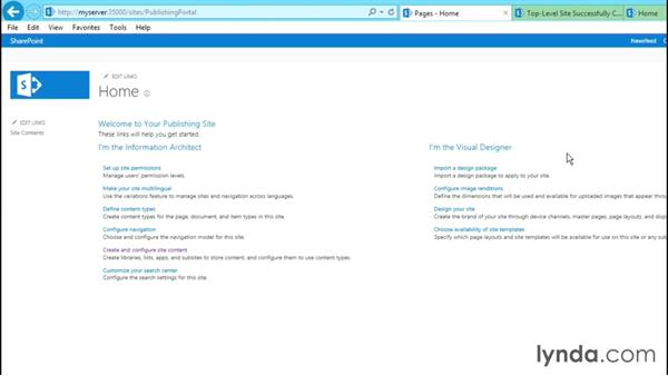 Exploring the features of the Publishing site: SharePoint 2013 Site and Collection Templates