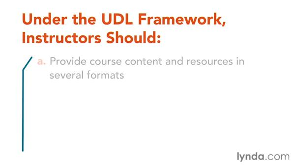 About applying UDL principles: Foundations of Teaching with Technology